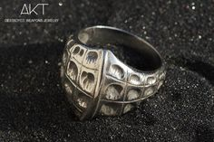BAGUE CROCO (croco ring). Destroyed weapons jewelry. Unisexe ring, stainless steel from destroyed weapons metal.