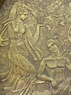 ❤ - Copper bas-relief on the basis of ancient Greek myths.