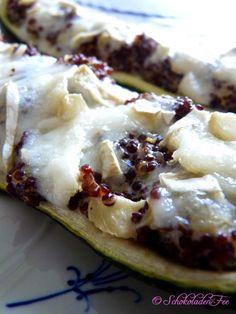 Zucchini gefüllt mit Quinoa und Ziegenkäse