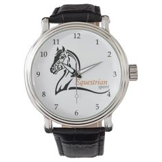equestrian sport watch - logo gifts art unique customize personalize