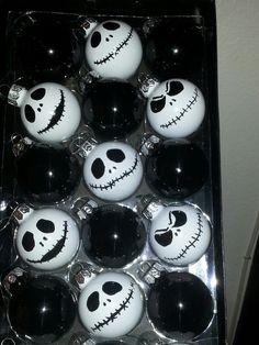 Jack Skellington Nightmare Before Christmas Ornaments 6pcs
