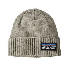Patagonia brodeo beanie winter hat logo: drifter grey line logo ridge: industrial green recycled wool and nylon blend fold up vintage styling with modern fit Patagonia Outfit, Patagonia Jacket, Mens Patagonia, Nylons, Recycling, Men's Beanies, Beanie Hats, Balaclava, Jackets