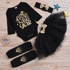 Made with the best materials available, this cute new year outfit is perfect for your cute little cutie pies. Baby Outfits Newborn, Toddler Outfits, Kids Outfits, Black Kids, My Black, Baby New Year, New Years Outfit, Printed Jumpsuit, Matching Family Outfits