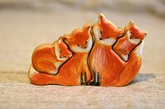 bear toy This nice wooden foxes (raccoons) made from solid birch wood. This eco-friendly puzzle is a great gift for any occasion! All pieces are sanded smooth. Raccoon Family, Crochet Teddy, Wooden Animals, Waldorf Toys, Bear Toy, Scroll Saw, Wood Toys, Handmade Toys, Wood Carving