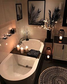 30 Adorable Contemporary Bathroom Ideas to Inspire - .- 30 entzückende zeitgenössische Badezimmer-Ideen zu inspirieren – 30 adorable contemporary bathroom ideas to … - Bathroom Goals, Bathroom Inspo, Bathroom Inspiration, Shower Bathroom, Bathroom Theme Ideas, Relaxing Bathroom, Spa Bathroom Decor, Bathtub Decor, Black Bathroom Decor