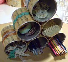 Up-cycled Tin Cans