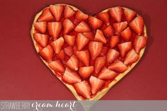 Strawberry Cream Heart | RainstormsandLoveNotes.com