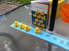 Just picture--Teaching Munchkins: 10 Little Rubber Ducks Math activity Preschool Themes, Preschool Math, Kindergarten Math, Teaching Math, Maths, Math Games, Preschool Activities, Tot School, Middle School
