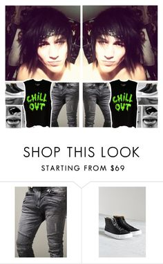 """""""Ootd : Raven & Crow"""" by believe-in-you-always ❤ liked on Polyvore featuring Vans, men's fashion and menswear"""