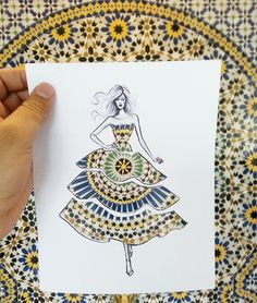 Shamekh Bluwi's cut-out fashion illustrations wrap models in the outside world - Artists Inspire Artists