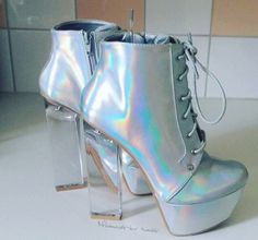 abf20b12e55  holographic  color  aesthetic Dolls Kill Shoes
