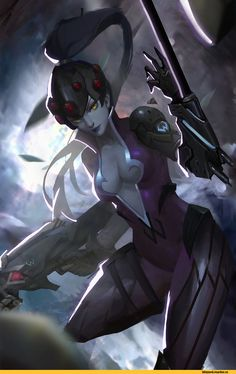 Z BOO,Overwatch art,Overwatch,Blizzard,Blizzard Entertainment,фэндомы,Widowmaker