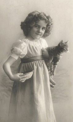 Grete with a cat