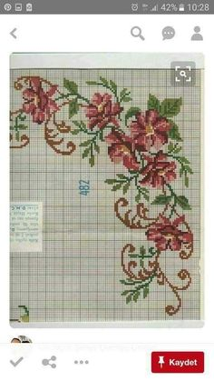 This Pin was discovered by HUZ Embroidery Patterns Free, Cross Stitch Embroidery, Cross Stitch Patterns, Cross Stitch Heart, Cross Stitch Flowers, Bargello, Stitch Kit, Needlepoint, Needlework