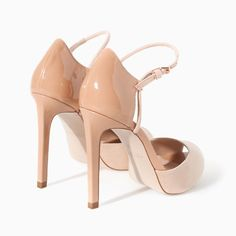 Image 3 of HIGH HEEL SANDALS WITH ANKLE STRAP AND PLATFORM from Zara