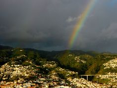 Rainbow in Funchal by mymoroccanworld, via Flickr