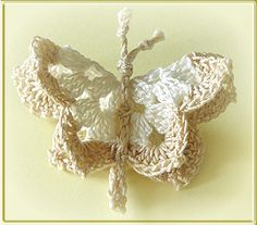 OMG I loooooove this!!!!  I can see thus for a Lupus fundraiser!!  Crochet Butterfly - Chart