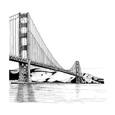 drawings_california ❤ liked on Polyvore featuring backgrounds, city, black and white, drawings and places