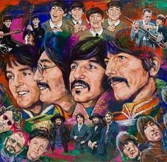 The Beatles - A Day in Our Lives limited edition canvas giclee print Beatles Party, The Beatles, Beatles Photos, El Rock And Roll, John Lennon Paul Mccartney, Punk, Music Artwork, The Fab Four, Look At You