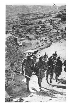 Assault on the Old City | Before Their Diaspora. 1938 An advance detachment of British troops moving to the assault just before the recapture of the Old City.