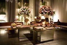 decoração de casamento com flores rosa - Pesquisa Google