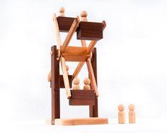 Montessori Wooden Toy Ferris Wheel Heirloom by asummerafternoon, $65.00