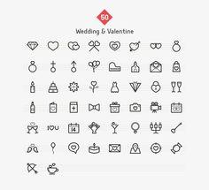 Wedding & Valentine Line Icons - Icons - 3