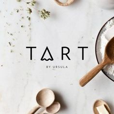 Flatlay - with design - bright - natural - marble background - wooden spoons - food ingredients Bakery Branding, Bakery Logo Design, Food Logo Design, Web Design, Logo Food, Logo Branding, Branding Design, Comida Delivery, Logo Patisserie