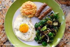 Gourmet Girl Cooks: Brussels Sprouts Hash w/ Wild Blueberries - Saturday's Amazing Low Carb Brunch