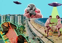 """Lara Alonso Ozores, más conocida en las RR.SS como Lara Lars, es una arquitecta gallega ubicada en Madrid, el trabajo que la ha dado a conocer es del collage, que comienza a hacer para hacer más visuales las maquetas de sus proyectos de arquitectura, con esta técnica descubre una nueva forma de contar historias. El estilo de sus collages se define como """"futurista vintage"""" en el que predomina la figura de la mujer pinup, también plasma su visión de arquitecta con fondos de edificios…"""