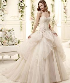 The FashionBrides is the largest online directory dedicated to bridal designers and wedding gowns. Wedding Dressses, Amazing Wedding Dress, 2015 Wedding Dresses, Elegant Wedding Dress, Bridal Dresses, Wedding Gowns, Party Dresses, Mod Wedding, Wedding Bride