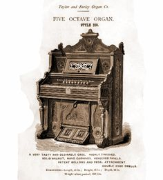 Taylor & Farley - 1M Five Octave Reed Organ. Style 200