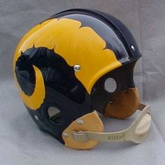 1949 Rams replica helmet.  These are great with the textured horns instead of the smooth ones like today.