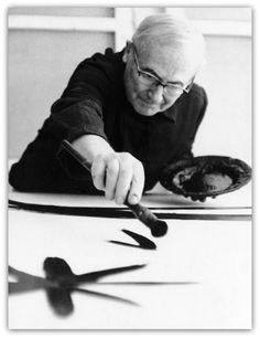 """de-salva: """" Joan Miró in his Studio (Atelier) """""""