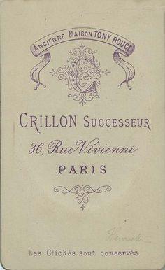 CRILLON, successeur. de TONY ROUGE - Paris (ebay.es)