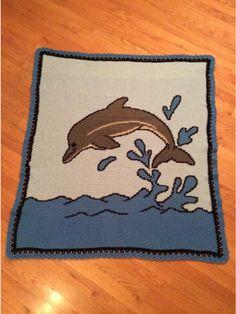 Crochet Dolphins Afghan