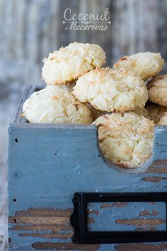 Coconut Macaroons - These pleasantly sweet coconut macaroons kissed with a hint of almond and citrus pair perfectly with a cup of coffee or hot cocoa.