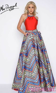 Shop Mac Duggal prom dresses at PromGirl. Elegant pageant gowns, long designer formal dresses, and special occasion Mac Duggal dresses. African Print Dresses, African Fashion Dresses, African Dress, African Style, African Clothes, African Wear, Designer Formal Dresses, Mac Duggal, African Attire
