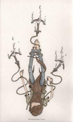 Pen & Watercolor II by Clint Reid, via Behance Pen And Watercolor, Watercolor Illustration, Beautiful Drawings, Amazing Art, Awesome, Love Art, Painting & Drawing, Graffiti, Sculptures