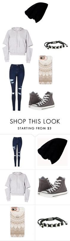 """""""Untitled #72"""" by darksoul7 on Polyvore featuring Topshop, Forever 21, Maurie & Eve, Converse, Casetify and King Baby Studio"""