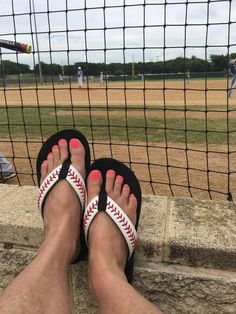 c025c89f47e5 Cocomo Soul Leather Stitch Baseball Flip Flops Sandals Slippers Womens