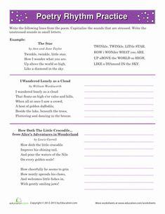 Poetry Rhyme Scheme Worksheet - Rringband