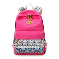 Abshoo Cute Lightweight Canvas School Backpacks for Teen Girls Rose Red ** You can find out more details at the link of the image.