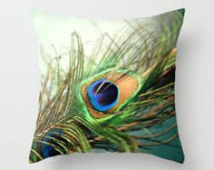 teal peacock cushions - Google Search
