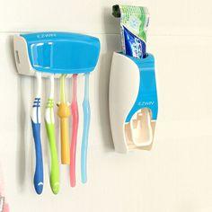 Многофункциональные зубы с держатель зубной щетки костюмах ленивый углу шельфа с творческой Автоматический дозатор зубная паста держатель зу...