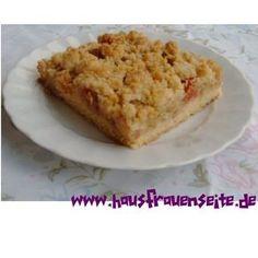 Rhabarberkuchen mit Streusel vom Blech