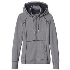 Athleta Women Heavenly Hail Hoodie 3 Size L ($89) ❤ liked on Polyvore featuring tops, hoodies, hooded sweatshirt, pullover hoodies, zip front top, sweater pullover and zip front hoodie