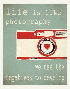 Typographic poster Quote art inspirational print by Happy Letter Shop