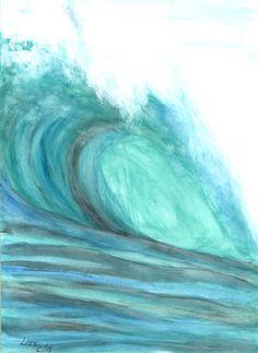 ORIGINAL Watercolor Painting Turquoise Tunnel  by LisaKeysArtwork, $41.00