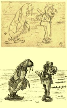 Drawings From Old Books - Tenniel's Alice.
